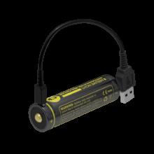 18650 Li-ion akumulátor 2600 mAh s Micro-USB nabíjaním