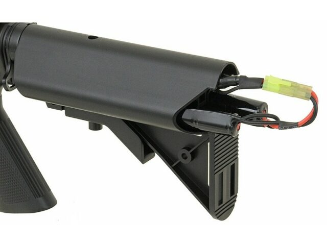 Airsoftový elektrický samopal CYMA CM.507 M4 R.I.S., kal. 6mm BB – čierny