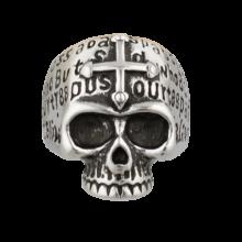 Prsteň ALBAINO, Lebka s templárskym krížom – strieborný