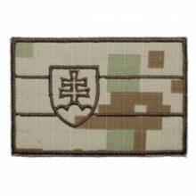 """Nášivka """"SVK vlajka"""" 9x6cm so SZ – digital púšť"""