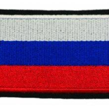 "Nášivka ""Ruská vlajka"" so SZ – 80x68mm"