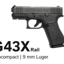 Glock 43X Rail / FS, 9×19 (50194)