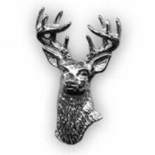 Odznak jeleň strieborný – hlava