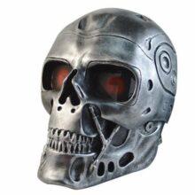 Airsoft maska Wosport Terminator, strieborná
