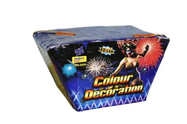 Farebná dekorácia – vejár 49 rán, kaliber 30mm