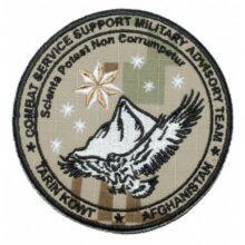 """Nášivka """"Combat Service Afghanistan"""" 9,5cm – digital púšť"""
