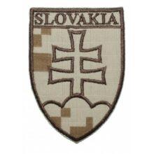 """Nášivka """"SLOVAKIA znak"""" 8,5x6cm – digital púšť"""