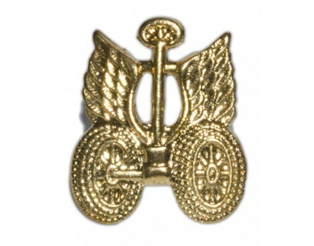 """Odznak originálny armádny """"Dopravné vojsko"""" – zlatý"""