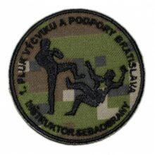 "Nášivka ""1.pluk výcviku"" 8,5cm – digital woodland"