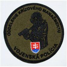 "Nášivka ""Vojenská polícia"" 9,5cm – zelená"