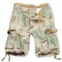 Nohavice krátke SURPLUS TEX Vintage short, sprané – desert