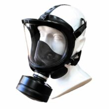Maska plynová poľská FERNEZ s filtrom, nová – čierna