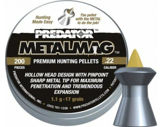 """Diabolky """"JSB Predator Metalmag"""" 200ks, cal. 5,5mm"""