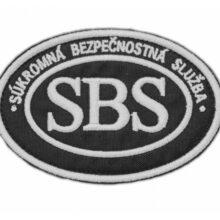 Nášivka SBS – elipsa čierna
