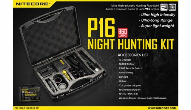 Svietidlo Nitecore P16 Hunting set -(TX-11001)