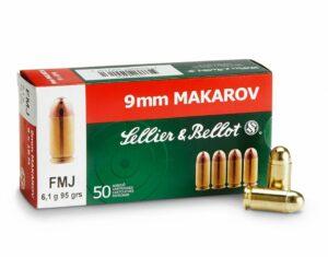 Sellier & Bellot 9mm Makarov FMJ 6,1g (50 ks)