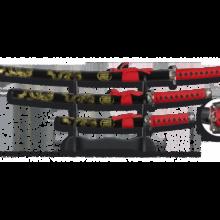 Meče katana JUEGO 3ks so stojanom