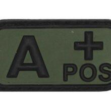 """Označenie krvnej skupiny """"A+ POSitive"""" 3D MFH 36501A – na suchý zips"""