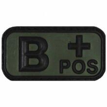 """Označenie krvnej skupiny """"B+ POSitive"""" 3D MFH 36501C – na suchý zips"""