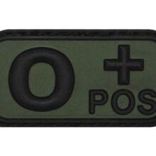 """Označenie krvnej skupiny """"0+ POSitive"""" 3D MFH 36501G – na suchý zips"""