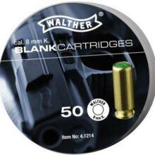 """Náboj pištoľový štartovací """"Walther"""" 8mm PA – (50 ks)"""