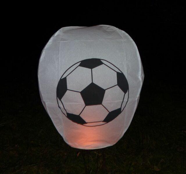 Lampión futbalová lopta