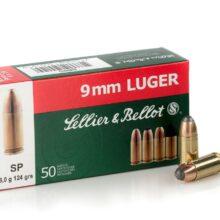 Sellier & Bellot 9mm LUGER SP 8,0g/124grs (50 ks)