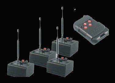 """Profesionálne diaľkové """"mini"""" odpaľovacie zariadenie 4 prímače + 1 diaľkové"""