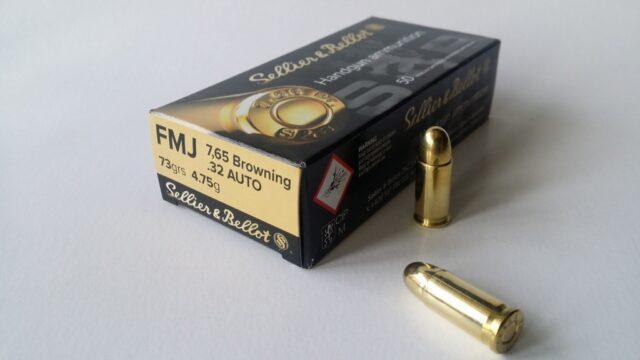Sellier & Bellot 7,65 Browning FMJ (50ks)