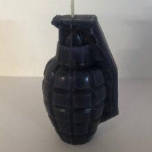 Sviečka v tvare granátu M26A1 – čierny