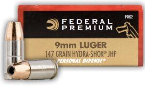 Náboj Federal Premium 9mm Luger Personal Defense 147gr/9,53g Hydra-Shok JHP (20 ks)