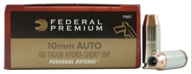 Náboj Federal Premium 10mmAuto Personal Defense 180gr/11,66g Hydra-Shok JHP (20 ks)