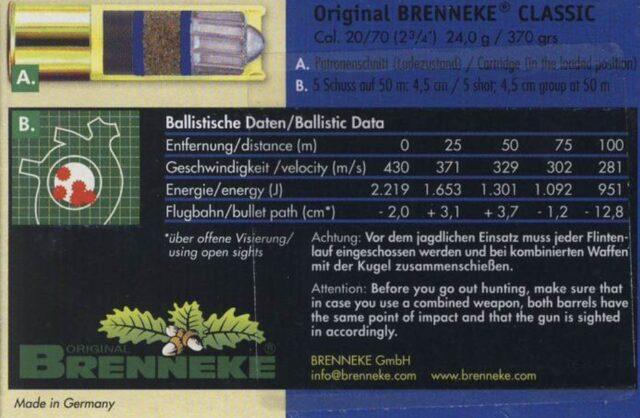 Brenneke Classic 20/70 24,0g, 5ks