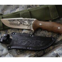 Nôž lovecký KIZLYAR Chazar – strieborný