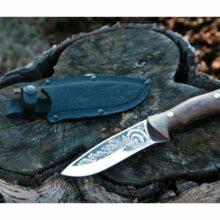 Nôž lovecký KIZLYAR Hlucháň – strieborný
