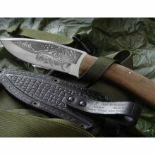 Nôž lovecký KIZLYAR Akula 2 – strieborný