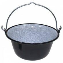 Kotlík na guláš smaltovaný MFH 33600B – 6 litrový