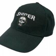 """Šiltovka s logom """"SNIPER"""" – čierna"""