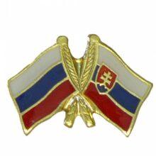"""Odznak dvojvlajkový – """"Slovensko-Rusko"""""""