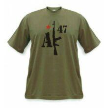 """Tričko APK """"AK-47"""" – olivovozelené"""