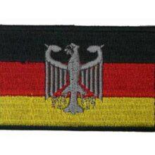 "Nášivka ""Nemecká vlajka s orlicou"" – čierny rámček"
