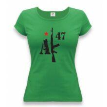 """Tričko dámske APK """"AK-47"""" – zelené"""