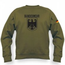 "Mikina APK ""Bundeswehr čierny nápis"" BK – zelená"