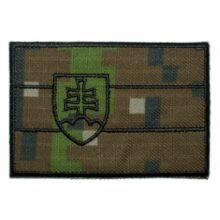 """Nášivka """"SVK vlajka"""" 9x6cm so SZ – digital woodland"""
