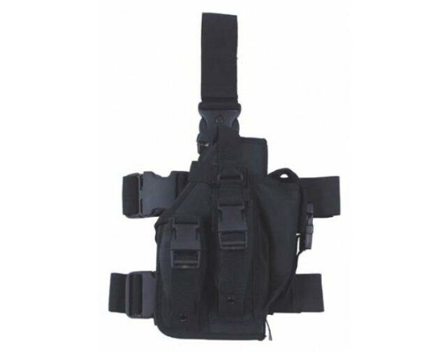Puzdro taktické stehenné MFH 30711A pravé – čierne
