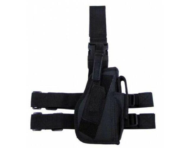 Puzdro taktické stehenné MFH 30725A – čierne/pravé
