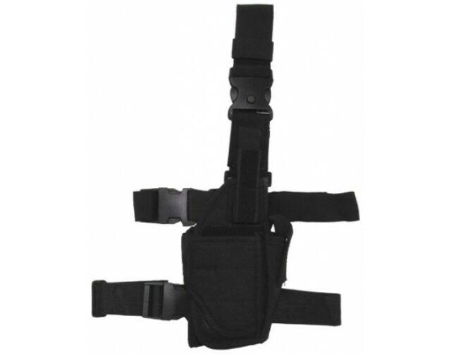 Puzdro taktické stehenné variabilné MFH 30710A – čierne