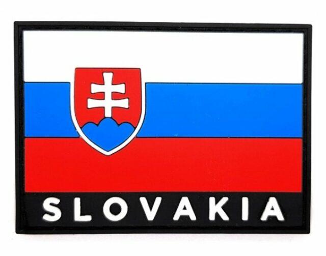 Patch vlajka SLOVAKIA 3D – farebná