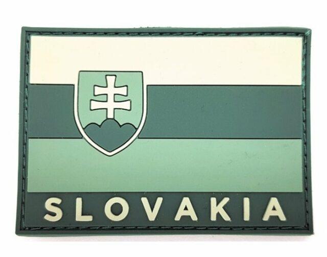 Patch vlajka SLOVAKIA 3D – olivová