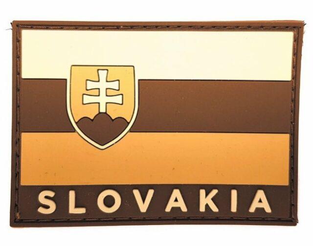 Patch vlajka SLOVAKIA 3D – piesková